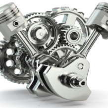 25276251-engine-concept-gears-and-pistons-on-white-isolated-background-3d-stock-photo